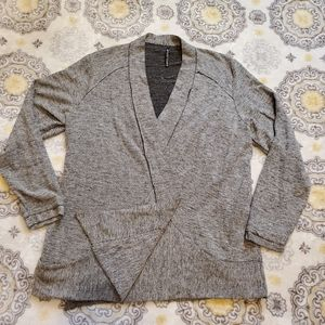 Kühl Plus Size Open Front Two Toned Gray Cardigan